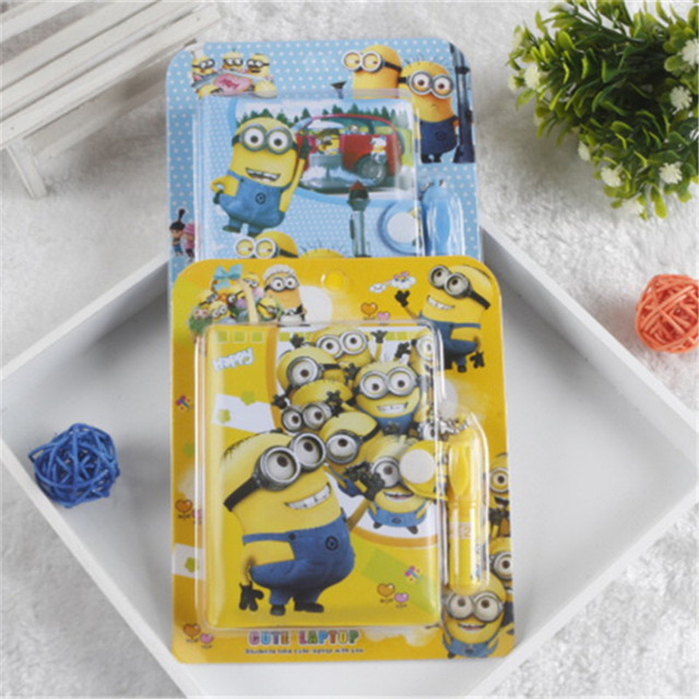 Kawaii Learning Notebook Despicable Me Minions School Supplies Stationery Study Tools Kids Birthday Gifts Childrens