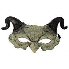 Halloween Scary Masker Carnival Masquerade Eye Mask Props Cartoon Demon Mask With Horn Halloween Party Mask Mascaras Cosplay halloween rhino demon w two horns mask pink