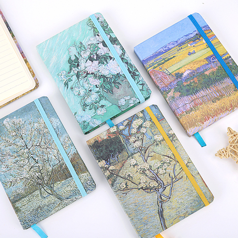 2019 2018 A6 24 Design Van Gogh Vintage Retro Travelers Hard Cover Notebook Pock