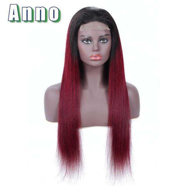 Annowig прямое, Омбре синтетические волосы на кружеве человеческие волосы Искусственные парики длинные перуанские волосы 613 Искусственные парики 4x4...