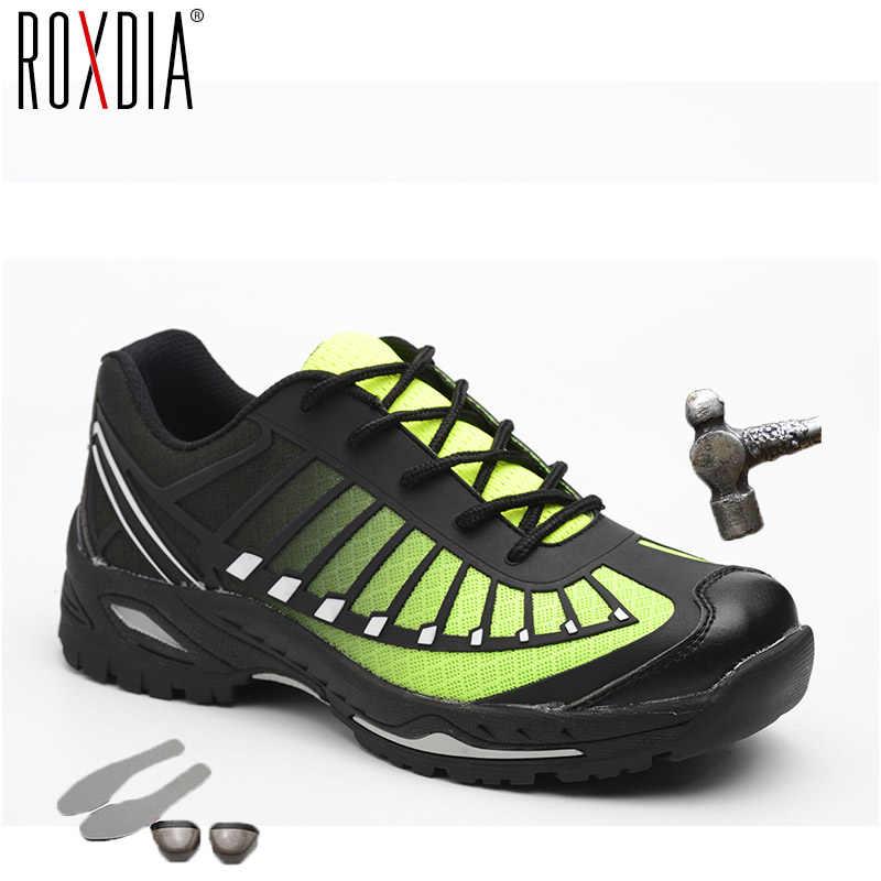 ROXDIA marka artı boyutu 39-46 çelik toecap kadın erkek çalışma ve güvenlik botları çelik orta taban erkek güvenlik ayakkabı şantiye RXM104