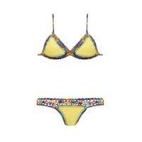 Yellow Crochet Bikini Swimwear Knot Swim Space Bay Bikini For Women