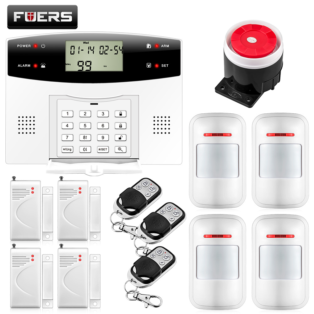 99 Wireless 4 Wired zones TFT Color Display GSM PSTN Telephone Line Monitoring Alarm Security Systems For Homes Remote Control