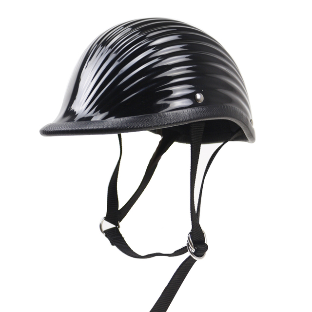 Extremely Light weight TT&CO style half face motorcycle helmet Novelty helmet Fiberglass Vintage helmet No mushroom head design