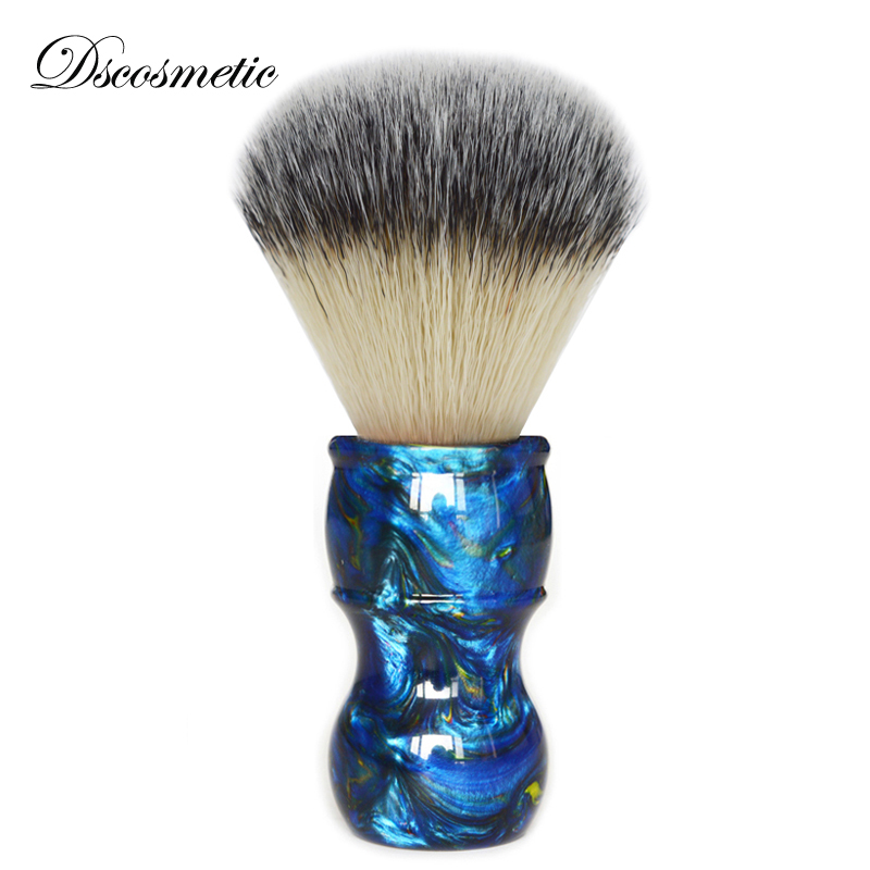 Dscosmetic New 26mm Big Shaving Brush Synthetic Hair Colorful Resin Handle Mens Wet Shaving Brush