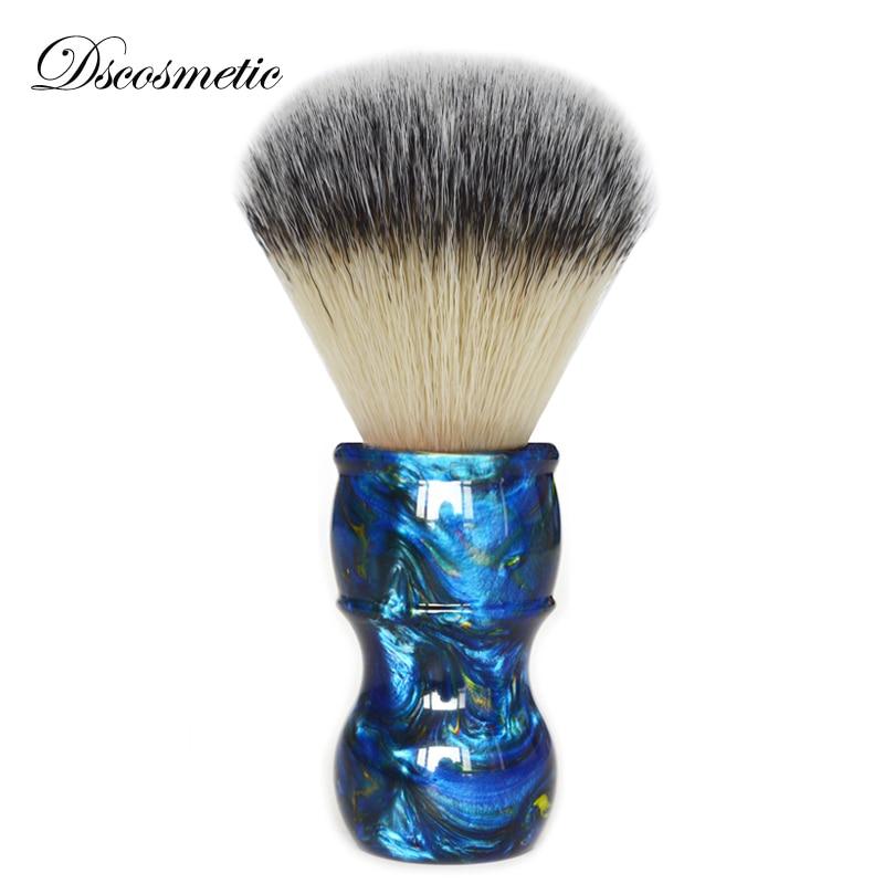 Dscosmetic New 26mm Big Shaving Brush Synthetic Hair Colorful Resin Handle Mens Wet Shaving Brush