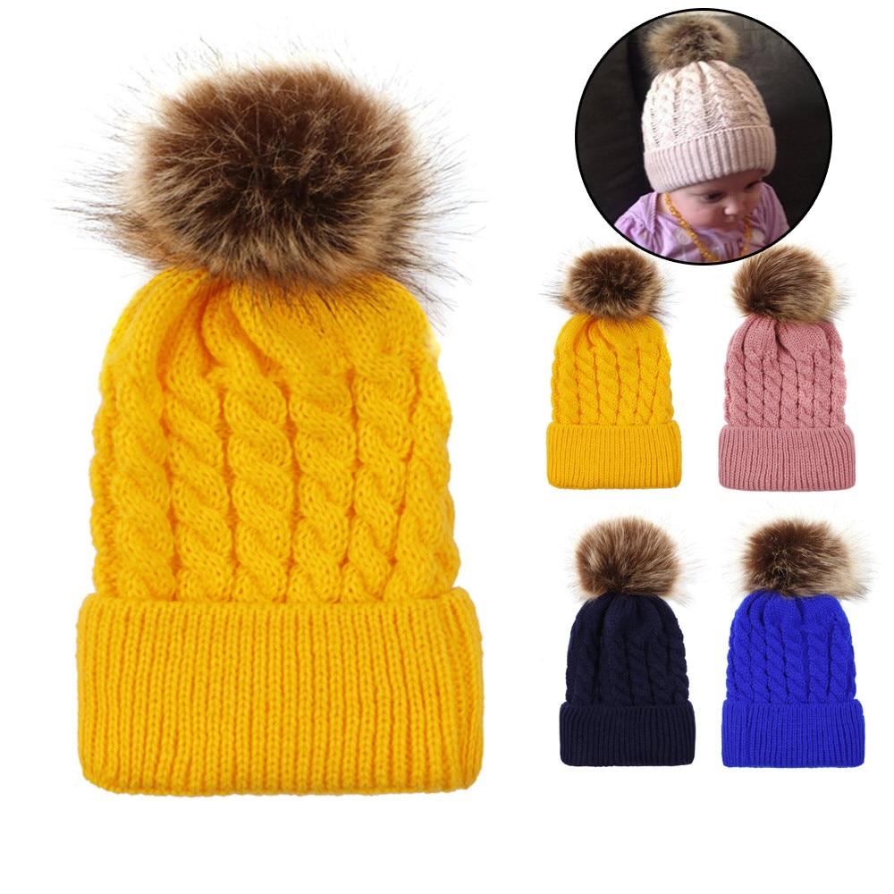 Cute Newborn Toddler Kids Baby Boy Girl Cotton Hat Winter Warm Cap Casquette Homme Winter Hats For Women Sombrero Mujer
