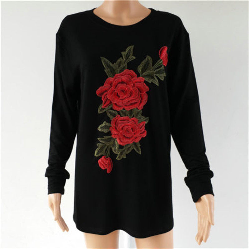 Plus Size Women Hoodies & Sweatshirts Winter Thickening Warm Cotton Fashion Female Floral Print Big Size Casual Turtleneck Dress