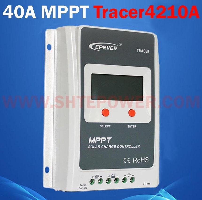 EPsolar Hot selling mppt solar panel charge regulator 40a for 12v 24v solar system Tracer4210A 100w 12v monocrystalline solar panel for 12v battery rv boat car home solar power