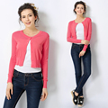 2016 Nuevas Llegadas Primavera Otoño Mujeres Moda Casual Blusas All-Purpose Estilo Pequeño Outerwears Manga Larga Delgada Tops