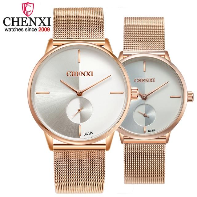 CHENXI Women Watches Quartz Top Brand Luxury Fashion Bracelet Watch Couple Fashi