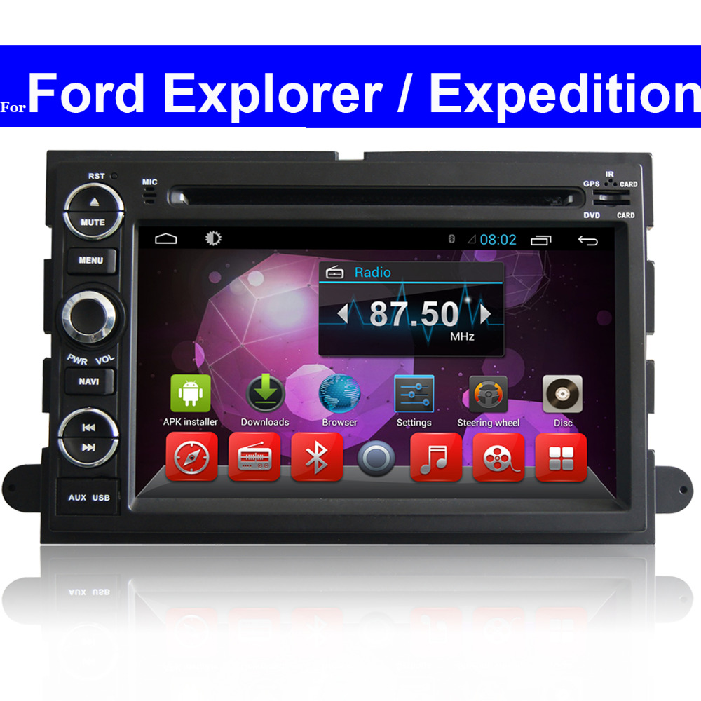 2 din touch screen android car dvd player for ford explorer expedition gps radio navigation bluetooth tv 3g wifi car stereo in car multimedia player from