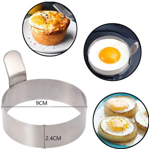 Nicht Stick Pfannkuchen Maker 9*2,4 CM Neue Edelstahl Eierringe Perfekte Kreis Runde Fried Mold + Griff-basketball-schuhe Nicht Stick