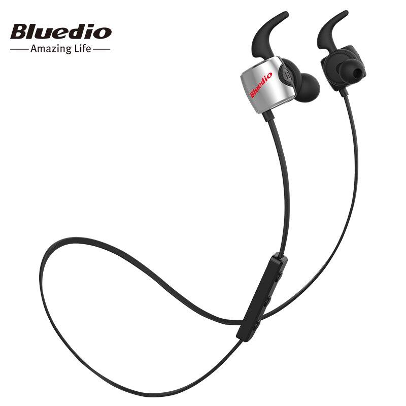 Bluedio TE deportes auricular inalámbrico Bluetooth con micrófono incorporado a prueba de sudor en el auricular del oído para el teléfono celular colorido estilo