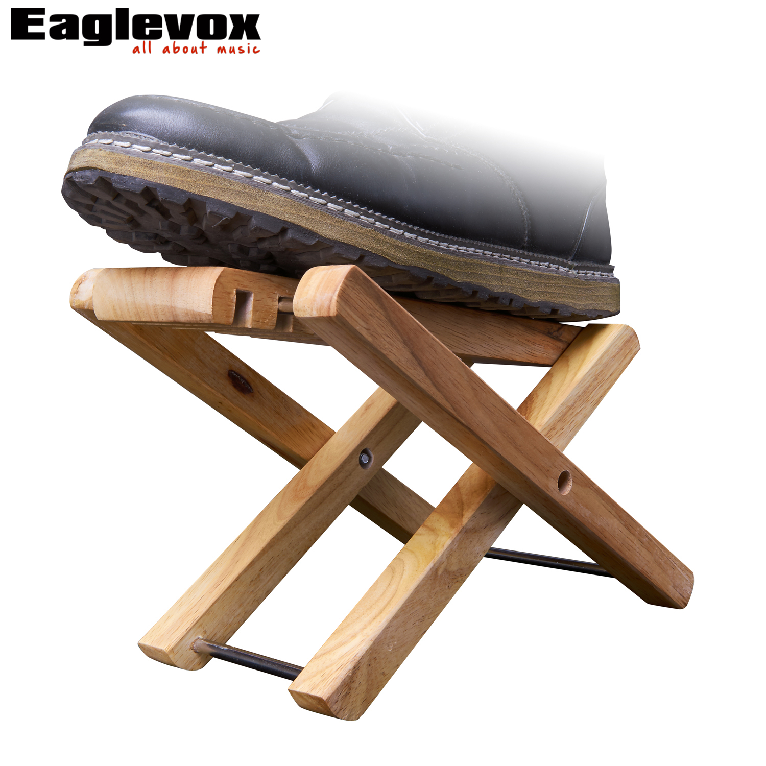 guitar footrest wood foldable foot rest stand 3 easily adjusted height positions am wp10 in. Black Bedroom Furniture Sets. Home Design Ideas