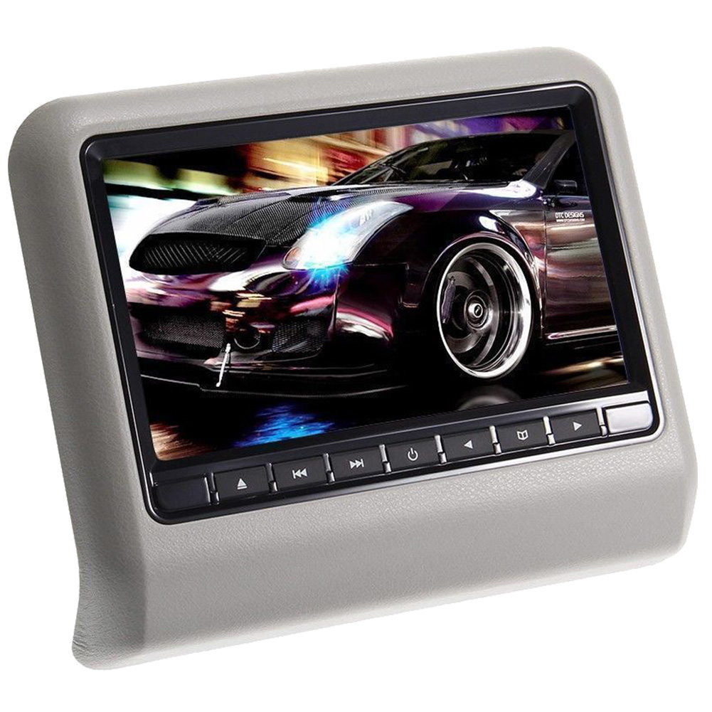9 inch Monitor Car Headrest DVD Player 1080P Video HD Digital Touch Screen Leather Cover /HDMI USB SD+IR headphones