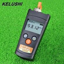 KELUSHI, MIni medidor de potencia óptica FTTH, medidor de Cable de fibra + 6 ~  70dBm, localizador Visual de fallos APM80T con potencia de luz LED