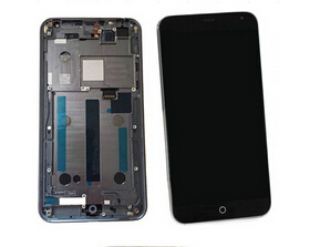 Black color lcd display+touch screen digitizer +frame assembly for meizu mx4  replacement parts free shipping
