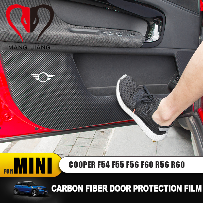 New Car Anti Dirty Carbon Fiber Stickers Protective Film For Mini Cooper F54 F55 F56 F60 R56 R60 Car-styling Accessories Sticker