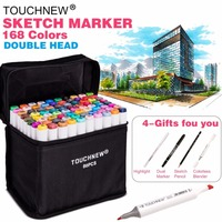 TouchFive 30 40 60 80 168 Colors Drawing Markers Pen Alcohol Dual Headed Tips For Manga