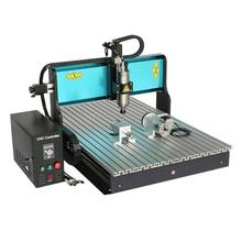 Free DHL JFT CNC 6090 Industrial Wood Milling Machine 4 Axis 2200W Electric Engraver with Parallel Port Engraving