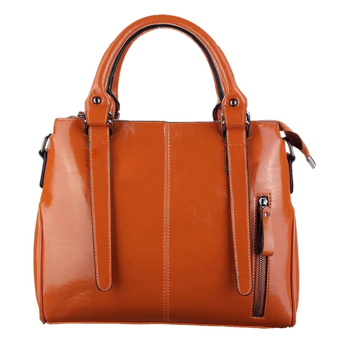 2 Pcs of (Women Leather Handbag Shoulder Bag Tote Messenger Crossbody Bag Ladies Satchel Purse Brown storage classification) fashion women handbag shoulder bag leather messenger bag satchel tote purse l228