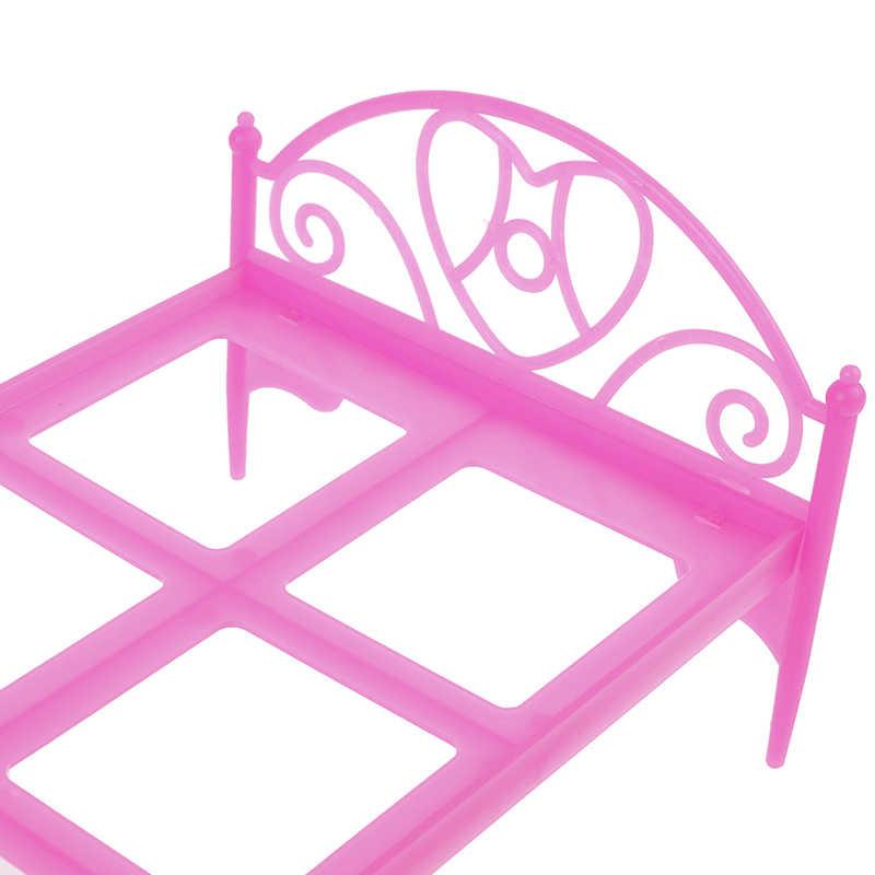 Móveis Em Miniatura de Brinquedo Casa Make-up Lâmpada Cama Mesa Cadeira Conjunto Toliet Ferramenta Acessórios Para Casa De Bonecas Casa de Boneca Fingir brinquedo do jogo