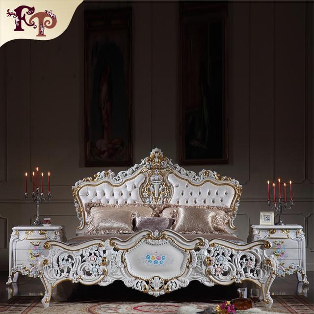Italiano clásico muebles de dormitorio antiguo antiguo barroco europeo
