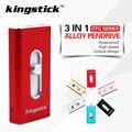 3 in 1 Kingstick Pendrive For IPhone 6 6s 5S Ipad Pen Drive 32GB 64GB Memory Stick 16GB 8GB OTG USB Flash Drive High Speed