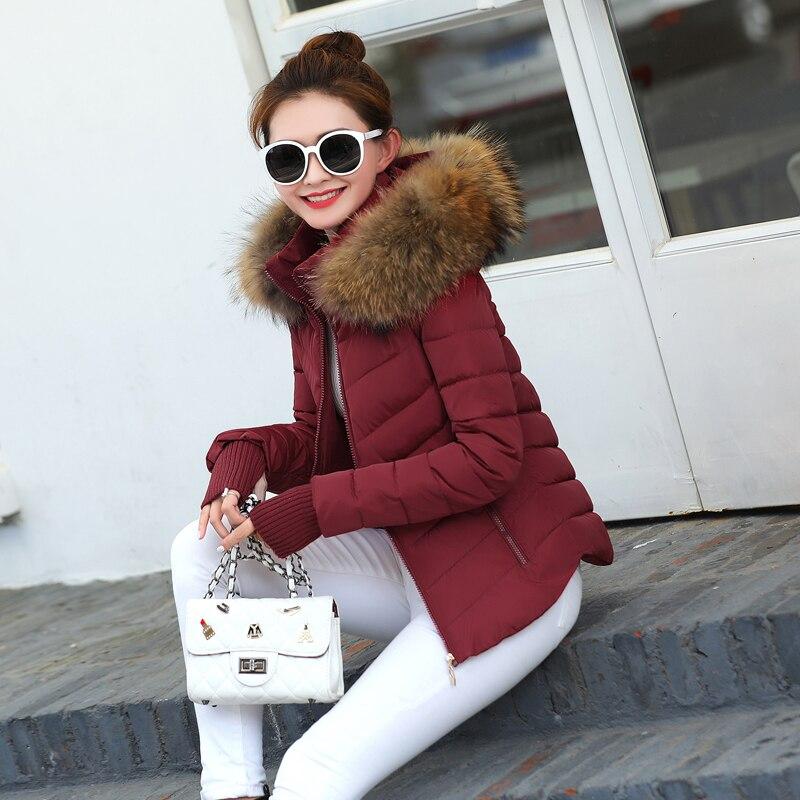 Avec 2017 Pour Noir Veste bourgogne Vers De Raton Laveur bleu Le Femmes Parkas Femelle Bas marron Automne Mode Col 100 Manteau rouge Hiver Vrai rrqwOX