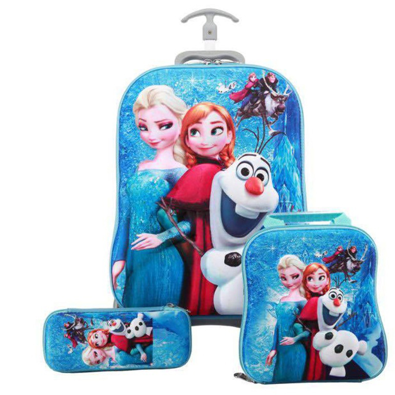 Brand Stereo Anime Trolley Case Cute Kids Travel 3PCS/set Suitcase Boy Girl Creative Cartoon Pencil Box Children Christmas GiftBrand Stereo Anime Trolley Case Cute Kids Travel 3PCS/set Suitcase Boy Girl Creative Cartoon Pencil Box Children Christmas Gift