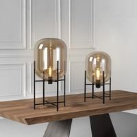 Современная Nordic четыре штатив Стекло настольные лампы светодио дный настольные лампы ночники деко светильники abajur Гостиная настольные лам
