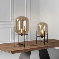 Modern Nordic four Tripod Glass Table Lamps LED Desk Lamps Bedside lamp deco light fixtures abajur Living Room Table Lights