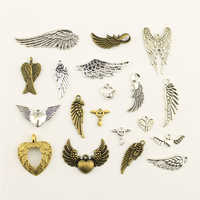 10 stücke Mode Schmuck, Der Engel Flügel Schmuck Erkenntnisse Komponenten Charme Anhänger