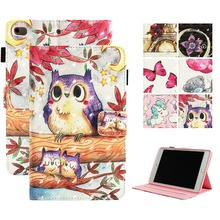Fundas Case For Apple iPad mini 1 2 3 4 Fashion 3D Printed butterfly PU Leather Flip Wallet Case Cover 7