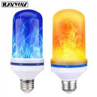 E27 LED Bulb Flame Fire luces Light Bulb Flickering Emulation club stage  disco lights Decor Lamp indoor Garden AC 110V 220V 240V
