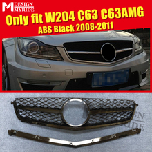 W204 C63AMG Look Grille Grills ABS Black Only Fits For MercedesMB C Class C63 C63AMG Style Front Grills Without Sign 2008-2011 only fits for mercedesmb w204 c63amg look grille grills c class c63 c63amg style abs black front grills without sign 2008 2011