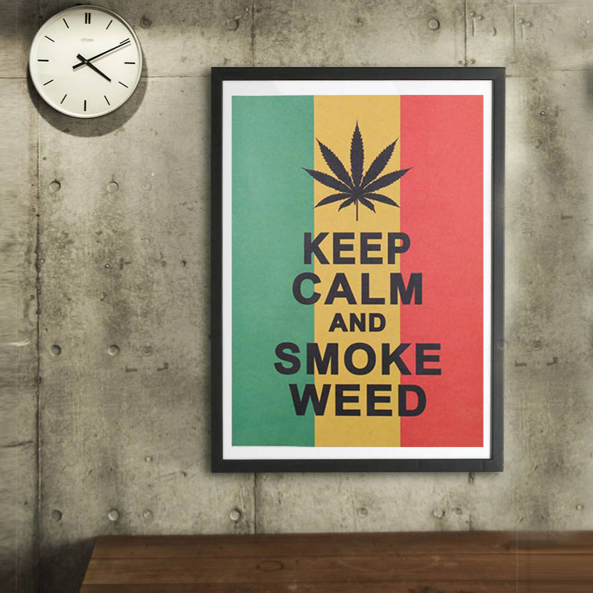 1pc Home Decor Poster Jamaican Reggae Style To Keep Calm Wall