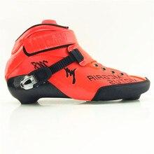Professional Carbon Fiber Speed Skate Shoes boot high-top inline roller skate