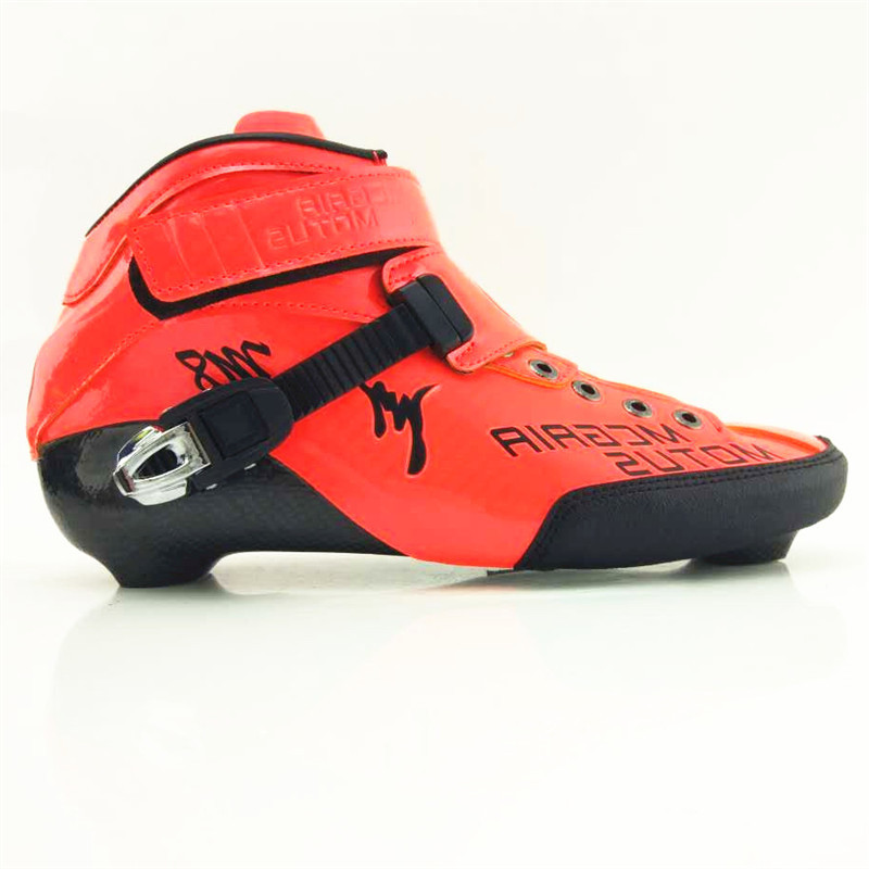 Professional Carbon Fiber Speed Skate Shoes boot high-top inline roller skate