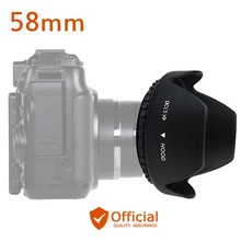 Фотография 58mm Screw-In Flower Lens Hood For Canon EOS 1300D 1200D 800D 760D 750D 700D 650D 600D 100D 80D 70D 77D 60D and 18-55mm lens