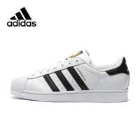 Оригинальный Новое поступление аутентичные Adidas Superstar классика унисекс Для мужчин и Для женщин Скейтбординг обувь анти скользкие кроссовки