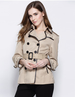 ESTILO 2016 Autumn New Women Trench Coat Solid Double Breasted Casual Coat Womens Slim Designer Outerwear