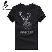 Pioneer Camp 2016 Summer New Fashion Mens T Shirt Print 100 Cotton Fitness O Neck Shorts