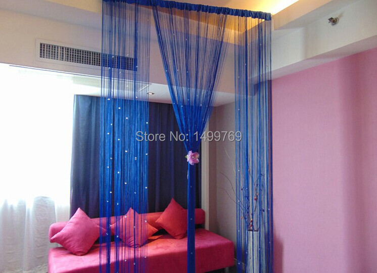 Free Shipping Handmade Crystal Beads Curtain Windows Purple Home Decoration Partition Ikea In Curtains From Garden On Aliexpress