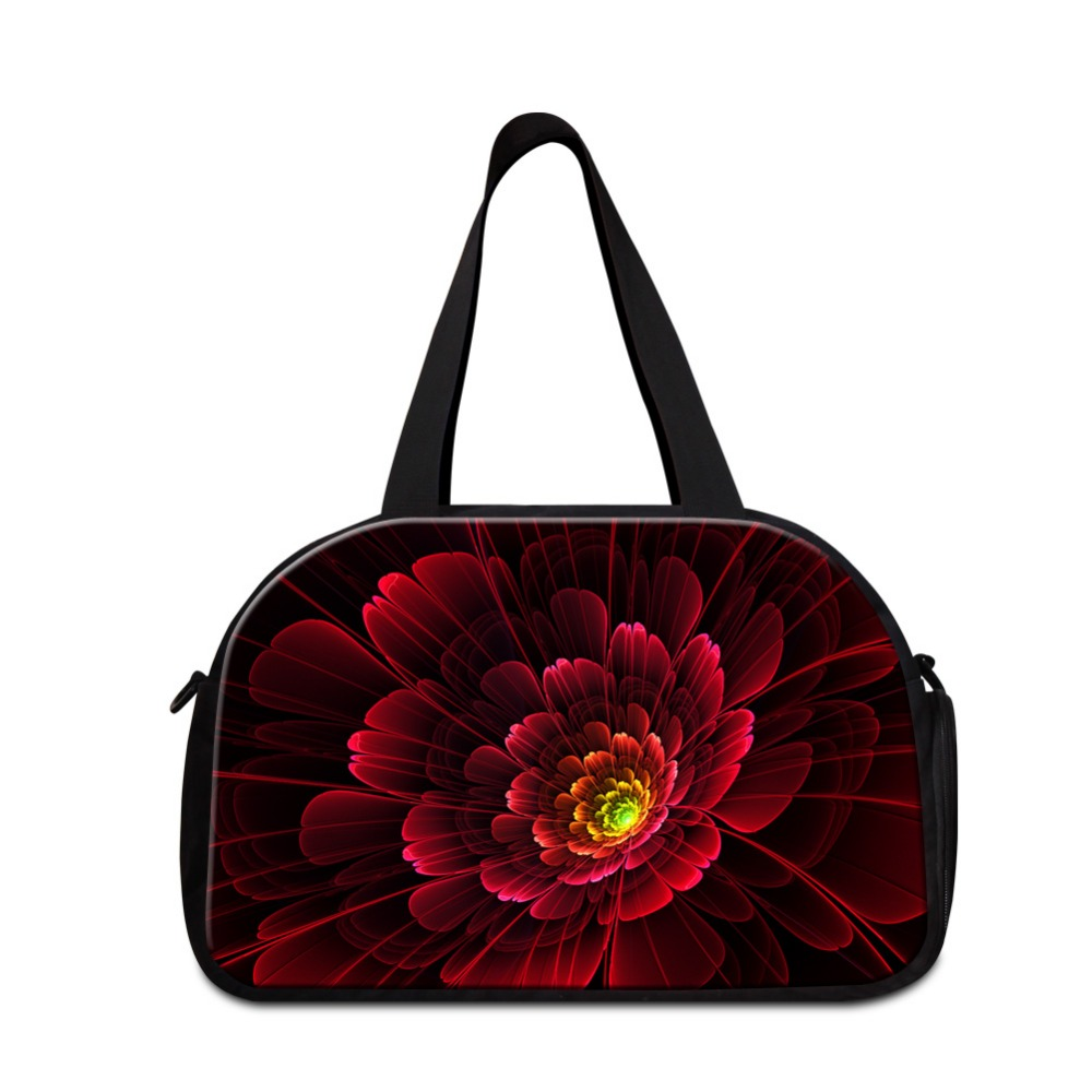 womens shoulder traveling bags designer medium sized sporty tote bags beautiful flower travel bags workout bag girls duffle