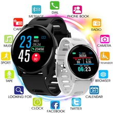 Mens Smart Watch S08 SENBONO IP68 Fitness Tracker Heart Rate Monitor Pedometer Waterproof Smartwatch For Android IOS Phone Pink