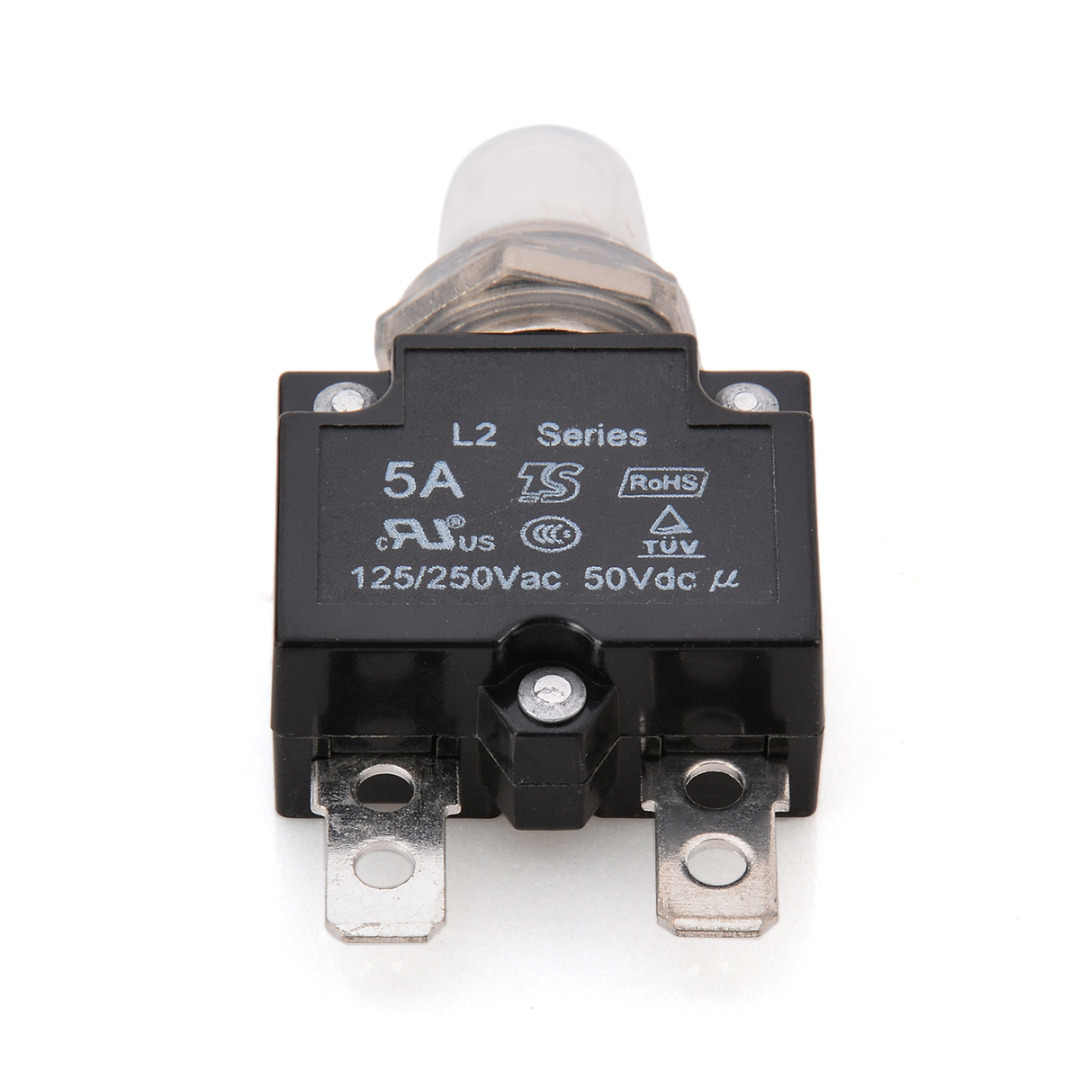 1X 5A/10A/15A/20A/30A Circuit Breaker 12 V/24 V Push-Taste Rückstellbare thermische Circuit Breaker Panel Mount Mit Wasserdichte Kappe