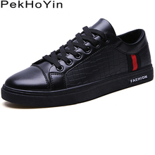 Trend Leather Men Casual Shoes Brand Fas