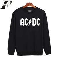 2017 Rock And Roll AD DC Harajuku Sweatshirt Black And Classic Men Women Long Sleeve Hoodies